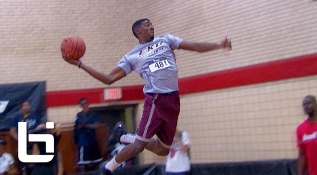 Marcus Lewis Has INSANE Bounce! NCAA Dunk Champion Shows OUT in Chicago!